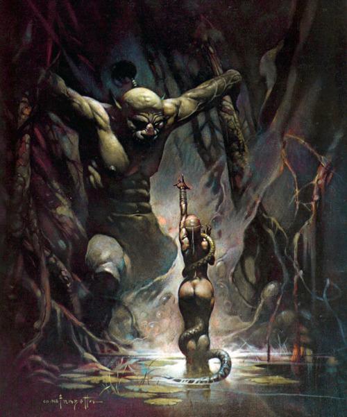 Cabraal l'aventureux (épisode 9) frazetta-femme-au-serpent